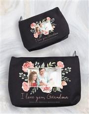 Personalised Grandma Photo Cosmetic Bag