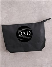 Personalised Best Dad Ever Wash Bag