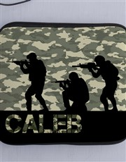 Personalised Neoprene Soldier Tablet Cover