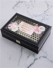 Personalised Message PU Jewellery Holder