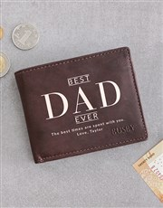 Personalised Dad Busby Brown Bilfold Wallet