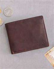 Personalised Dad Busby Brown Bilfold Wallet