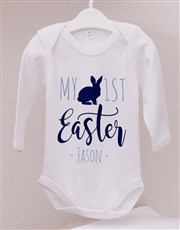 Personalised First Easter Boy Onesie