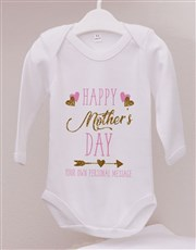 Personalised First Mothers Day Girl Onesie