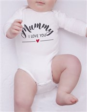 Personalised First Mothers Day Boy Onesie
