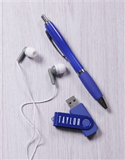 Personalised Blue Tech Set