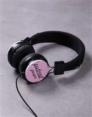 Personalised Pink Groupie Headphones