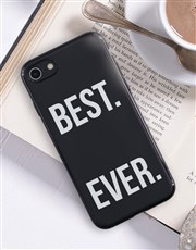 Personalised Best Ever Black iPhone Cover
