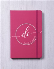 Personalised Initial Stamp A5 Notebook