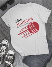 Personalised Surname Cricket T Shirt