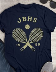 Personalised Tennis Team T Shirt