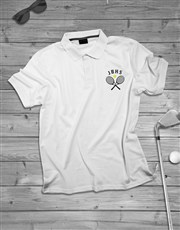 Personalised Tennis Initials Polo Shirt