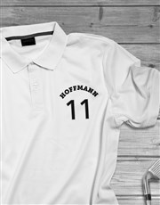 Personalised Surname Sports Polo Shirt