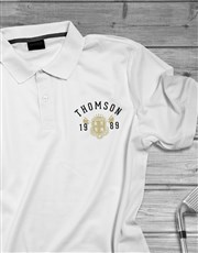 Personalised Year Badge Polo Shirt