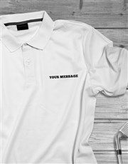 Personalised Modern Printed Polo Shirt