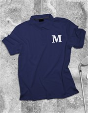 Personalised Initial Printed Polo Shirt