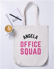 Personalised Office Squad Tote Bag