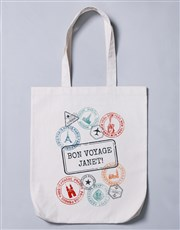 Personalised Bon Voyage Tote Bag