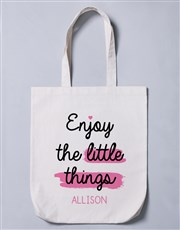 Personalised Enjoy The Little Things Tote Bag