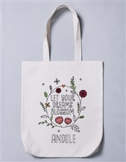 Personalised Blossom Tote Bag