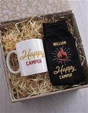 Personalised Happy Camper Socks And Mug