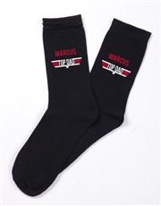 Personalised Top Dad Socks