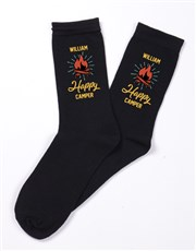 Personalised Happy Camper Socks