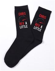 Personalised Rev A Little Socks