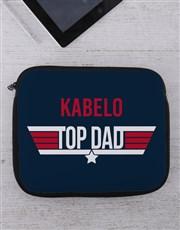 Personalised Top Dad Tablet or Laptop Sleeve