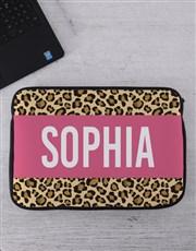 Personalised Animal Print Tablet or Laptop Sleeve
