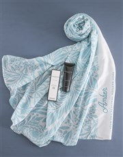 Personalised Blue Nature Scarf Gift