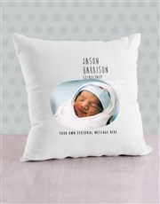 Personalised Dotted Birth Bed Set