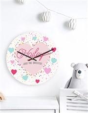 Personalised Sweetest Clock