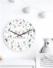 Personalised Garden Cat MDF Clock