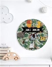 Personalised Wild One MDF Clock