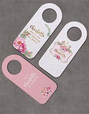 Pack of 3 Personalised Floral Crown Door Hangers