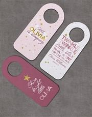 Pack of 3 Personalised Twinkle Door Hangers