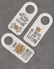 Pack of 3 Personalised Bear Door Hangers