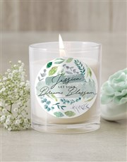 Personalised Blossom Candle