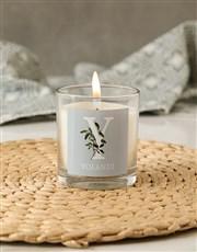 Personalised Botanic Name Candle
