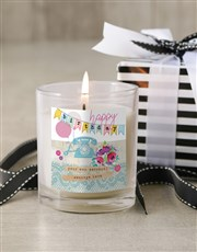 Personalised Girly Happy Birthday Candle