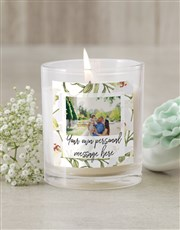 Personalised Lily Photo Candle
