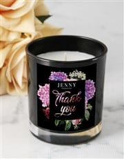 Personalised Floral Thank You Candle