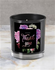 Personalised Floral Gratitude Candle