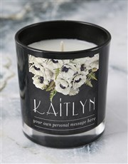 Personalised Floral Message Candle
