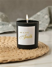 Personalised Mr and Mrs Foil Candle