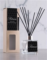 Personalised Black Damask Reed Diffuser