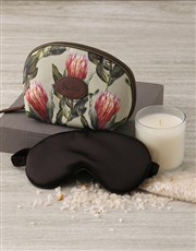 Personalised Protea Cosmetic Bag