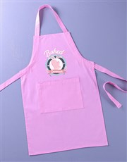 Personalised Baked With Love Kids Apron