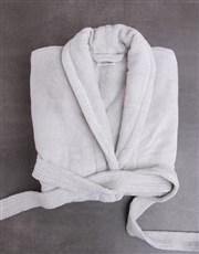 Personalised Hamsa Grey Fleece Gown